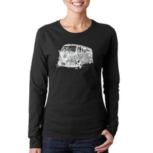 Load image into Gallery viewer, LA Pop Art Women's Word Art Long Sleeve T-Shirt - THE 70'S