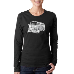 LA Pop Art Women's Word Art Long Sleeve T-Shirt - THE 70'S