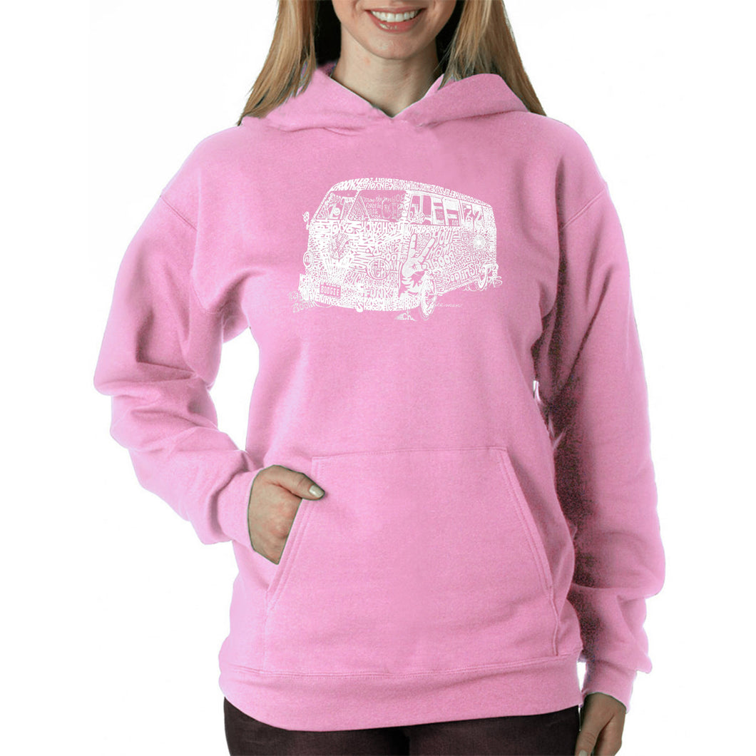 LA Pop Art Women's Word Art Hooded Sweatshirt -THE 70'S