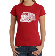 Load image into Gallery viewer, LA Pop Art Women's Word Art T-Shirt - THE 70'S