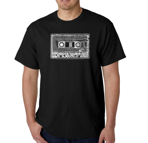 LA Pop Art Men's Word Art T-shirt - The 80's