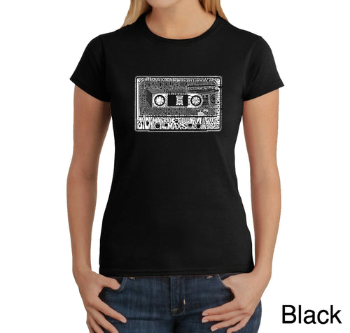 LA Pop Art Women's Word Art T-Shirt - The 80's