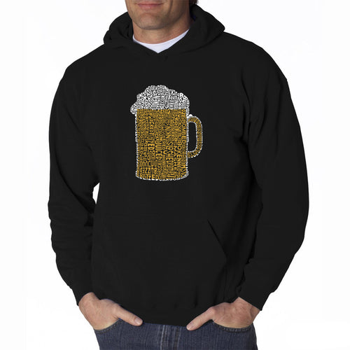 LA Pop Art Men's Word Art Hooded Sweatshirt - Slang Terms for Being Wasted