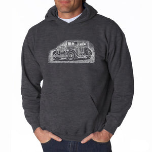 LA Pop Art Men's Word Art Hooded Sweatshirt - Legendary Mobsters