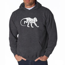 Load image into Gallery viewer, LA Pop Art Men's Word Art Hooded Sweatshirt - Monkey Business