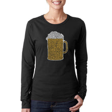 Load image into Gallery viewer, LA Pop Art Women's Word Art Long Sleeve T-Shirt - Slang Terms for Being Wasted