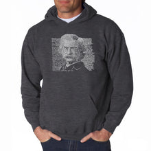 Load image into Gallery viewer, LA Pop Art Men's Word Art Hooded Sweatshirt - Mark Twain