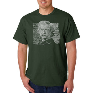 LA Pop Art Men's Word Art T-shirt - Mark Twain