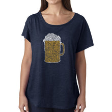 Load image into Gallery viewer, LA Pop Art Women's Dolman Word Art Shirt - Slang Terms for Being Wasted