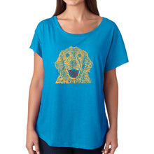 Load image into Gallery viewer, LA Pop Art Women's Dolman Word Art Shirt - Dog