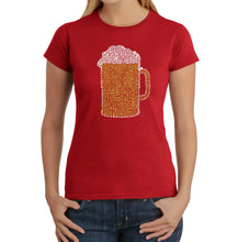 Load image into Gallery viewer, LA Pop Art Women's Word Art T-Shirt - Slang Terms for Being Wasted