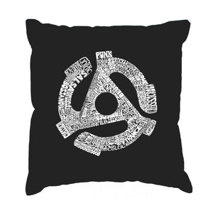 LA Pop Art Throw Pillow Cover - Record Adapter