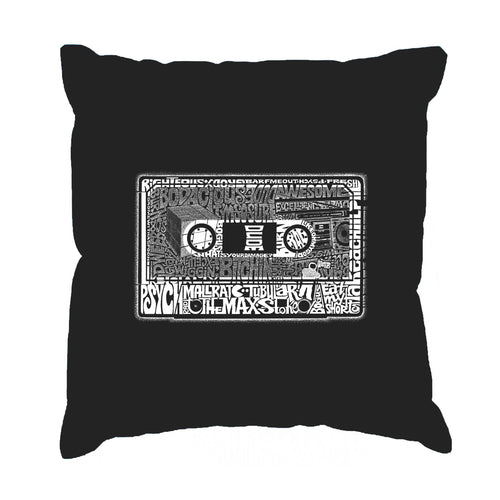 LA Pop Art Throw Pillow Cover - The 80's