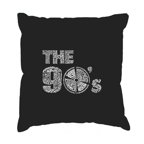LA Pop Art Throw Pillow Cover - 90S