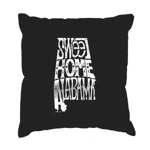 LA Pop Art Throw Pillow Cover - Sweet Home Alabama