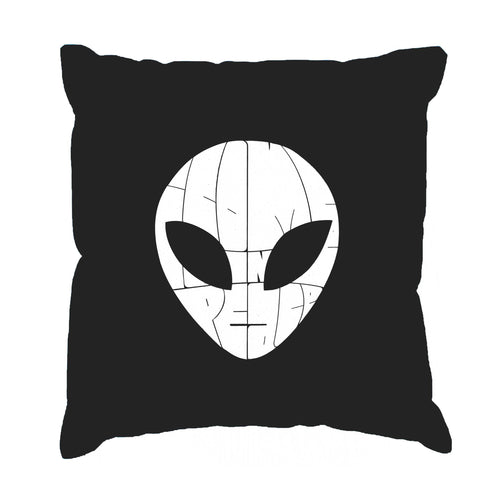 LA Pop Art Throw Pillow Cover - I COME IN PEACE