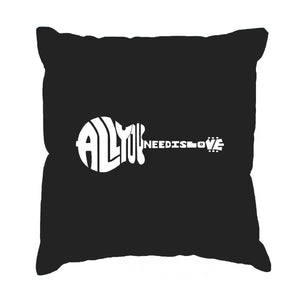 LA Pop Art Throw Pillow Cover - All You Need Is Love
