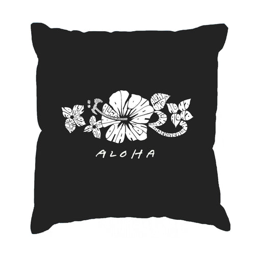 LA Pop Art Throw Pillow Cover - ALOHA