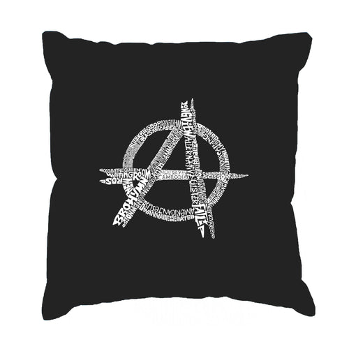 LA Pop Art Throw Pillow Cover - GREAT ALL TIME PUNK SONGS