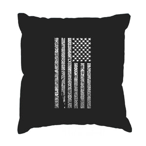 LA Pop Art Throw Pillow Cover - National Anthem Flag