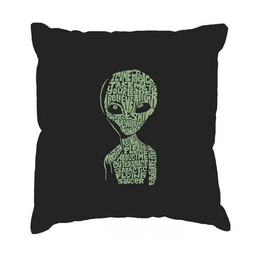 LA Pop Art Throw Pillow Cover - Alien