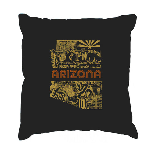 LA Pop Art Throw Pillow Cover - Az Pics