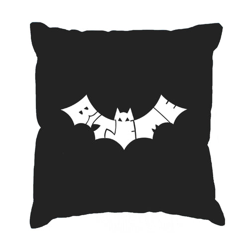LA Pop Art Throw Pillow Cover - BAT - BITE ME