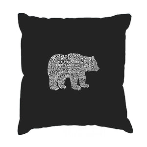 LA Pop Art Throw Pillow Cover - Bear Species