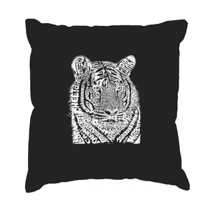 LA Pop Art  Throw Pillow Cover - Big Cats