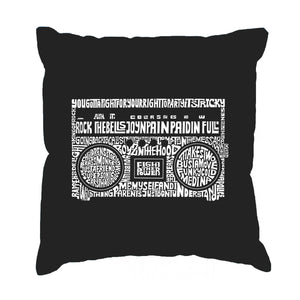 LA Pop Art Throw Pillow Cover - Greatest Rap Hits of The 1980's