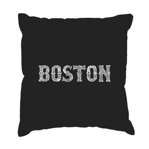 LA Pop Art Throw Pillow Cover - BOSTON NEIGHBORHOODS
