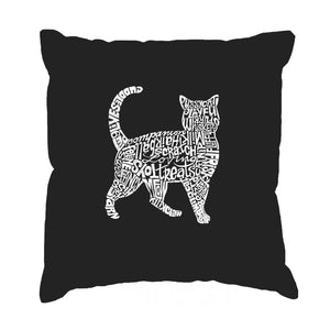 LA Pop Art Throw Pillow Cover - Cat