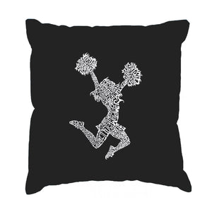 LA Pop Art Throw Pillow Cover - Cheer