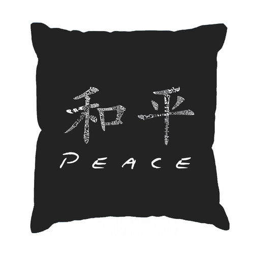 LA Pop Art Throw Pillow Cover - CHINESE PEACE SYMBOL