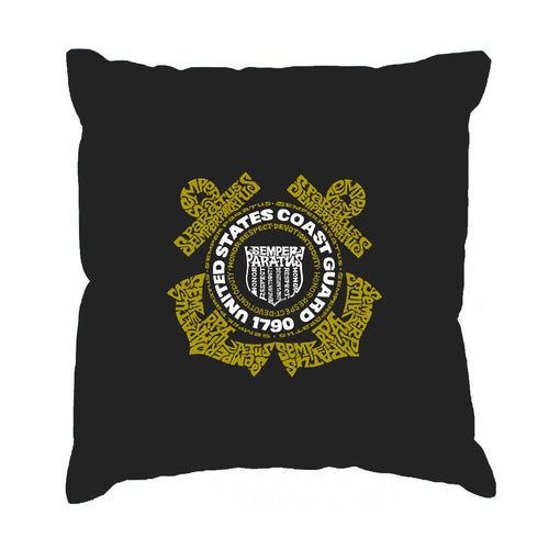 LA Pop Art Throw Pillow Cover - Coast Guard