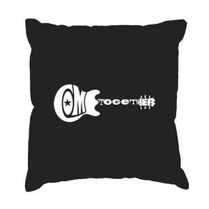 LA Pop Art Throw Pillow Cover - COME TOGETHER