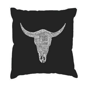LA Pop Art Throw Pillow Cover - COUNTRY MUSIC'S ALL TIME HITS