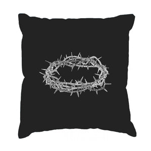 LA Pop Art Throw Pillow Cover - CROWN OF THORNS
