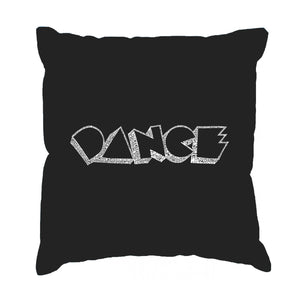 LA Pop Art Throw Pillow Cover - DIFFERENT STYLES OF DANCE