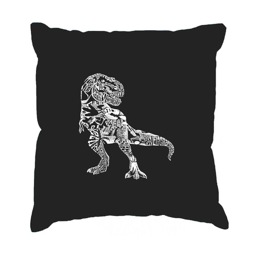 LA Pop Art Throw Pillow Cover - Dino Pics
