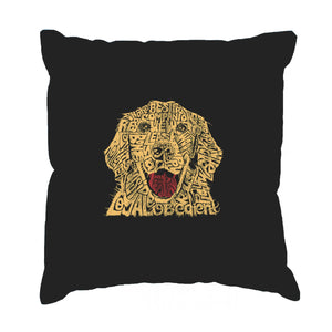LA Pop Art Throw Pillow Cover - Dog