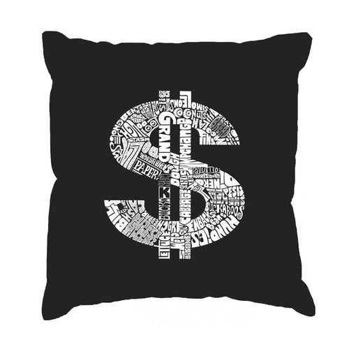 LA Pop Art Throw Pillow Cover - Dollar Sign