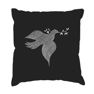LA Pop Art  Throw Pillow Cover - Dove