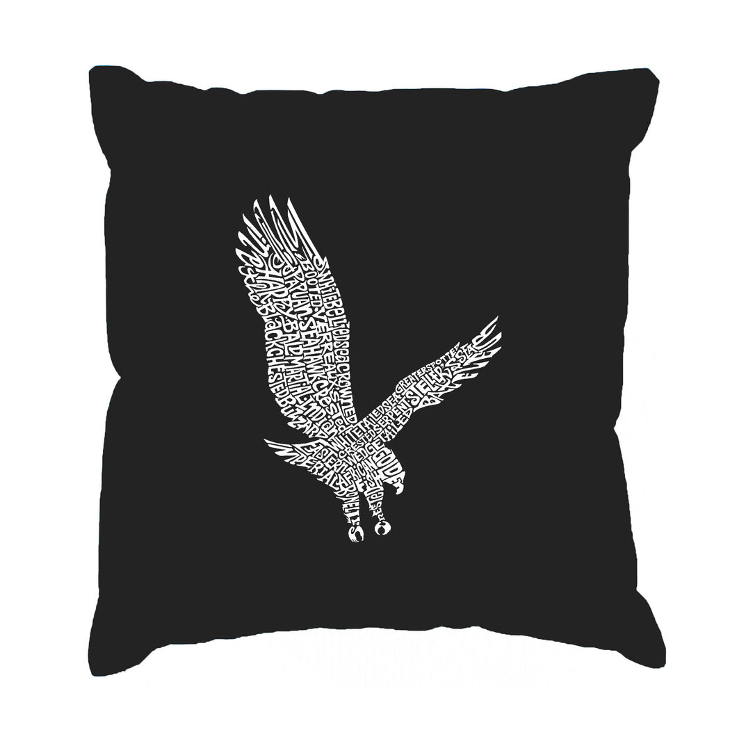 LA Pop Art Throw Pillow Cover - Eagle