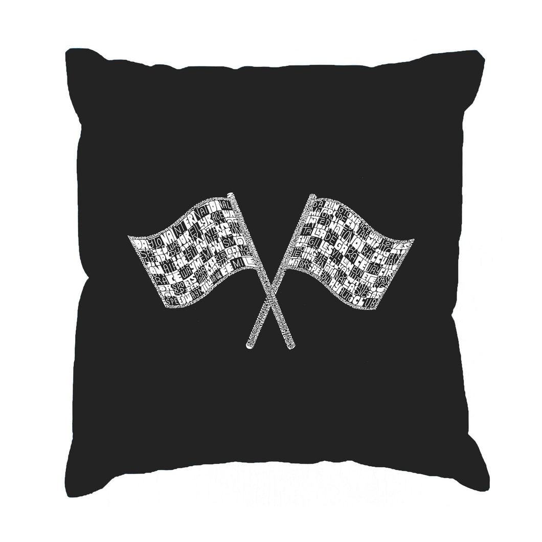 LA Pop Art Throw Pillow Cover - NASCAR NATIONAL SERIES RACE TRACKS