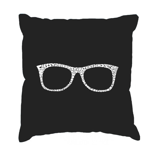 LA Pop Art Throw Pillow Cover - SHEIK TO BE GEEK