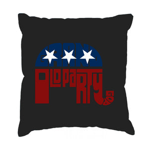 LA Pop Art Throw Pillow Cover - REPUBLICAN - GRAND OLD PARTY