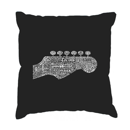 LA Pop Art Throw Pillow Cover - Guitar Head