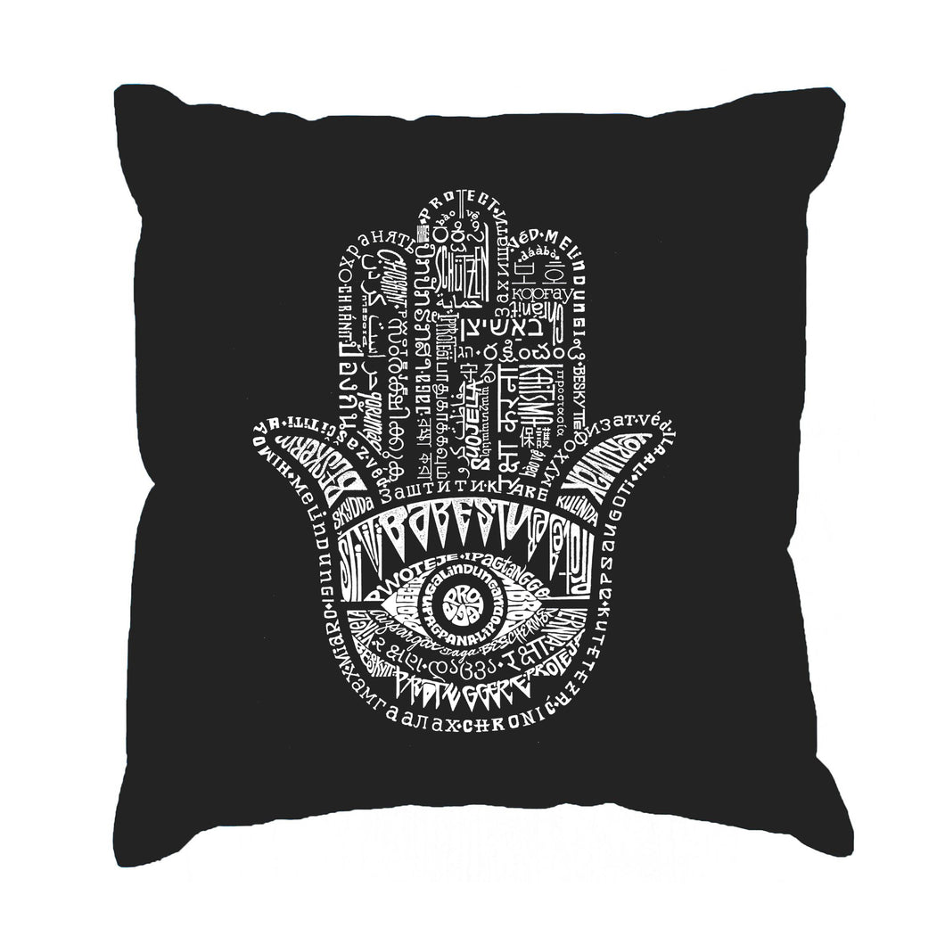 LA Pop Art Throw Pillow Cover - Hamsa