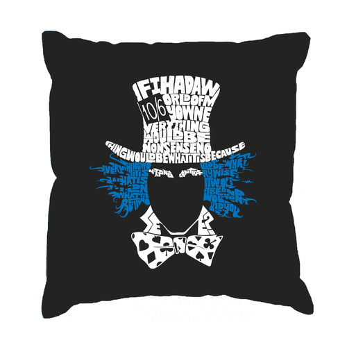 LA Pop Art Throw Pillow Cover - The Mad Hatter